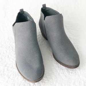 Rampage New gray suede ankle boots slip ons
